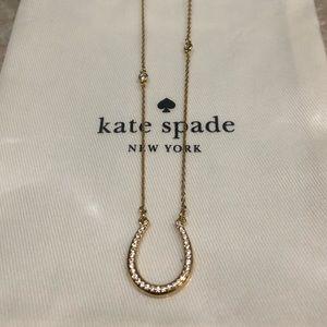 """Kate Spade """"Wild Ones"""" horseshoe necklace"""
